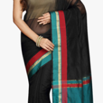 Pavechas Black Solid Saree worth Rs. 1499 available only for Rs. 570 only at Jabong
