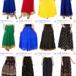Black Georgette Flared Skirt which would otherwise cost you Rs. 1299 is now being offered at Rs. 449