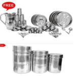 Scitek Pc Stainless Steel Dinner Set with Free Jug, Tea, Coffee & Sugar Containers on homeshop18.com at just Rs 213350