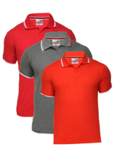 Scott international men's pack of 3 polo neck T-Shirts