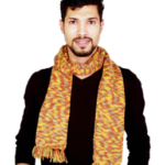 Multicolor Stylish Andknitted Muffler With Fringes on voonik.com at just Rs 399