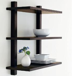 The New Look Wood Wall Shelves – Black now priced at just Rs 1199 on homeshop18