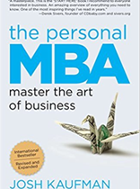 The Personal MBA Master the Art of Business Paperback by Josh Kaufman on amazon.com at Rs 897
