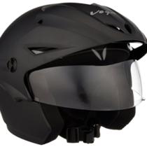 Vega Cruiser CR-W-P-DK-M Open Face Helmet with Peak
