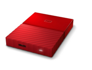 WD My Passport 1TB Portable External Hard Drive (Red)