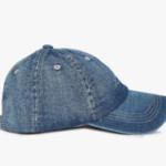 Washed denim baseball cap on ajio.com at just Rs 489.