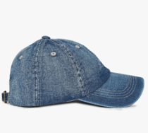 Washed denim baseball cap on ajio.com at just Rs 489.