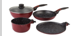 Wonderchef Click Amaze Cookware Set,
