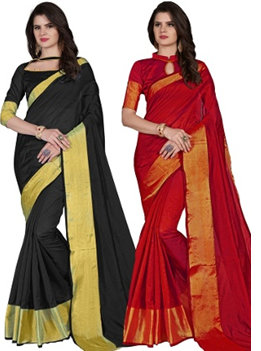 gorgeous Cotton silk saris worth Rs. 3599 available only for Rs. 549 only at Homeshop18