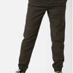 pair of Panelled Cuffed Trousers with Drawstring Fastening  offered at Rs1609 only