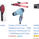 33% off on Hair Straightener and combo amazon offers india