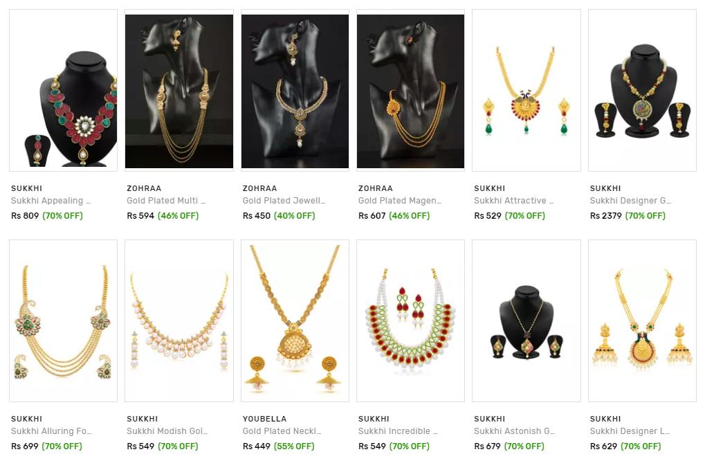 70% off on Voonik fashion jewellery