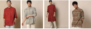 Save 50% on Men's kurtas