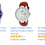 Save 83% on Men's wrist watch from Amazon India Online