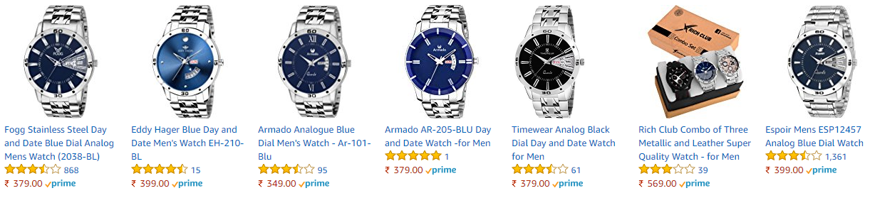 Timewear Analog Blue Dial Day and Date Watch for Men Offers