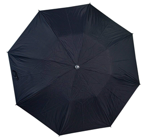 Citizen Umbrellas 3-Fold Black Office Umbrella