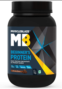 MuscleBlaze Beginner's Whey Protein Supplement (Chocolate, 1 Kg 2.2 lb)