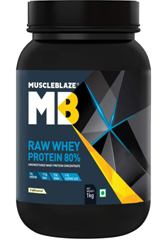 MuscleBlaze Raw Whey Protein - 2.2 lb 1 kg, 33 Servings (Unflavoured)