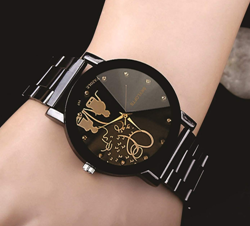 Skyloft Analog Black Dial Women's Watch-J49