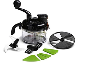 Wonderchef Turbo Dual Speed Food Processor, Black