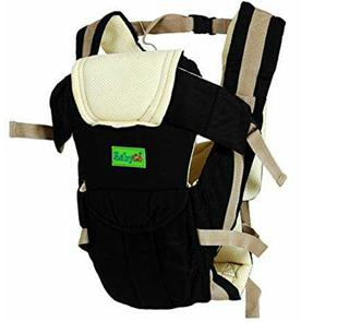 BabyGo Soft Adjustable 4-in-1 Baby Carrier Bag with Waist Belt