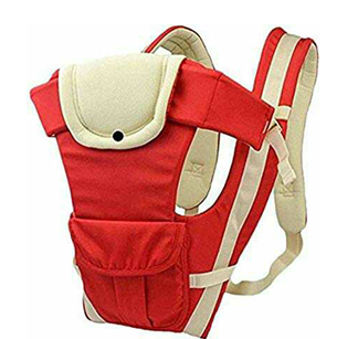 HOLME'S Baby Adjustable Hands Free 4-in-1 Front Carrier Bag with Head Support and Buckle Straps